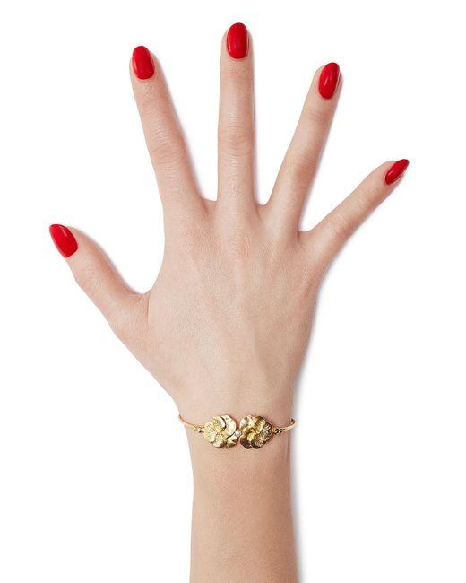 Gas Bijoux | Metallic Pensée 24kt Gold Plated Bracelet | Lyst