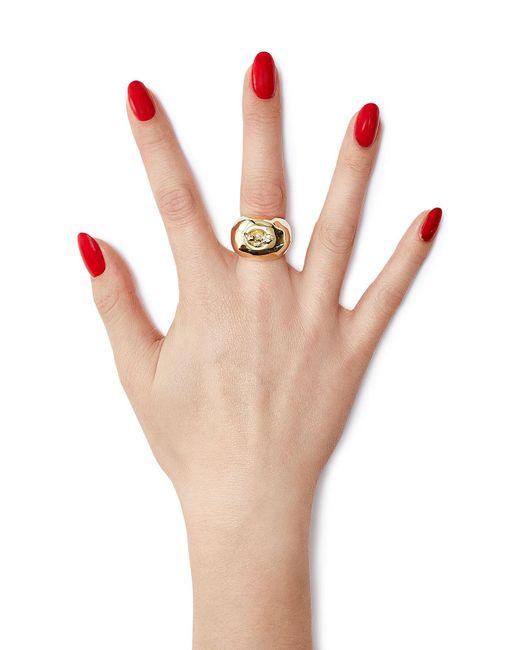 Aurelie Bidermann | Metallic Lauren 18kt Yellow Gold Plated Ring | Lyst