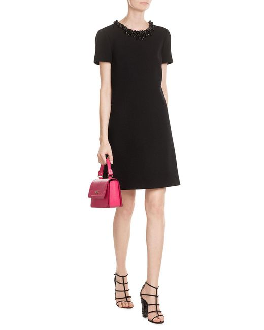 Boutique Moschino | Black Short Dress | Lyst