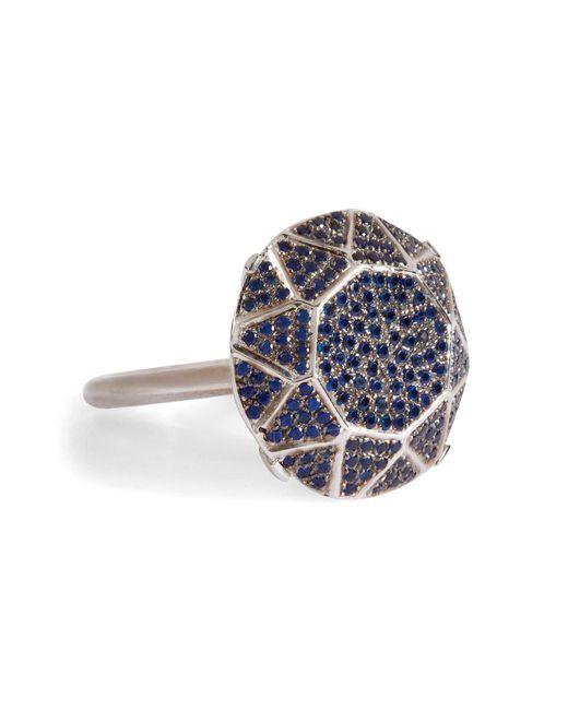 Ileana Makri - Metallic White Gold/sapphire Gem Single Solitaire Ring - Lyst