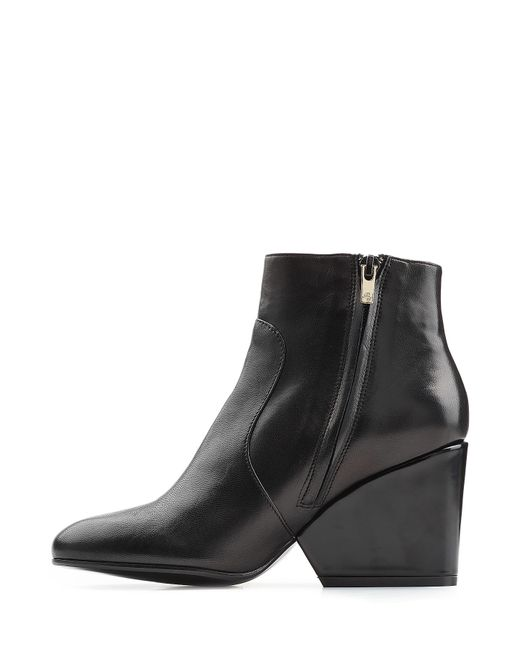 robert clergerie leather ankle boots black in black lyst