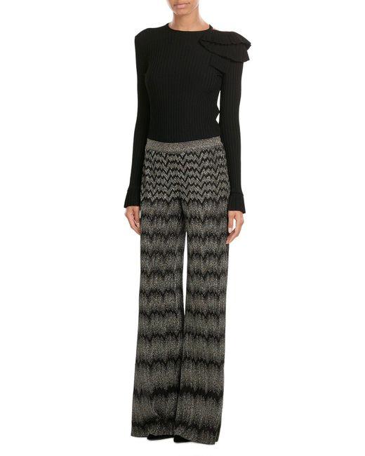 Missoni | Natural Wide Leg Crochet Knit Pants | Lyst