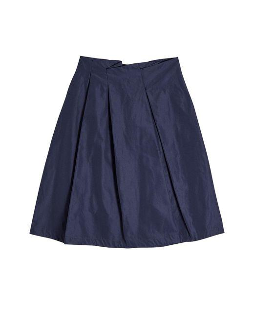 jil sander navy pleated mini skirt in blue lyst