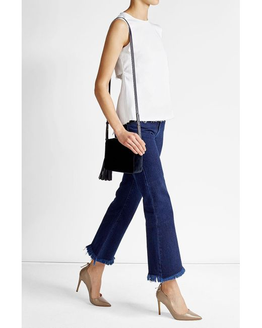 Rejina Pyo | Blue Cotton Blend Top With Distressed Back | Lyst
