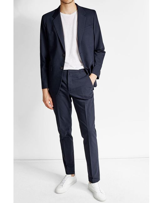Jil Sander   Blue Cotton Blazer for Men   Lyst
