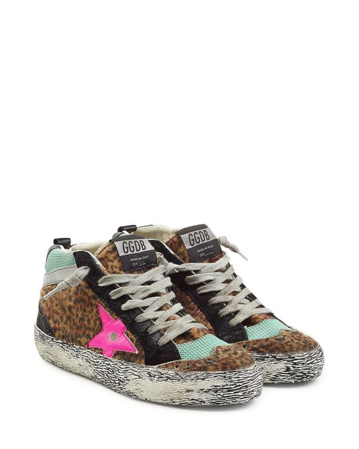 Golden Goose Deluxe Brand Suede And Faux Fur Mid Star