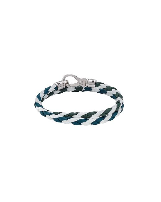 Tod's   Blue Braided Leather Wrap Bracelet   Lyst
