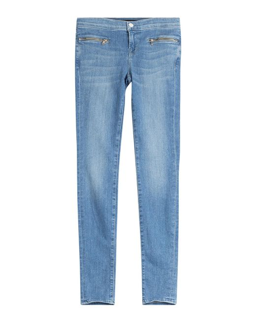 J Brand - Blue Emma Skinny Jeans With Zippers - Lyst