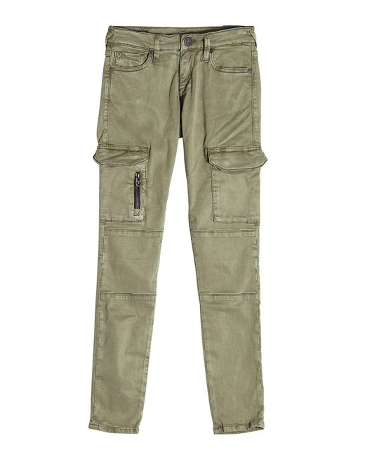 True Religion | Green Cargo Pants With Cotton | Lyst