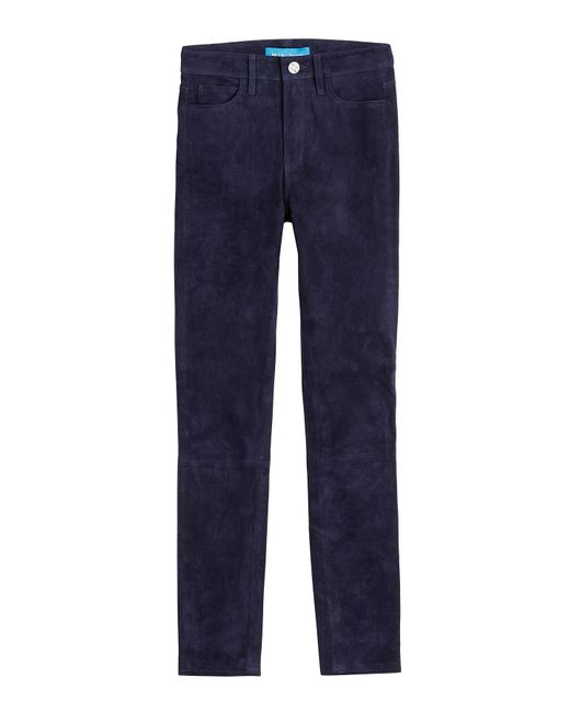MiH Jeans - Blue Suede Pants - Lyst