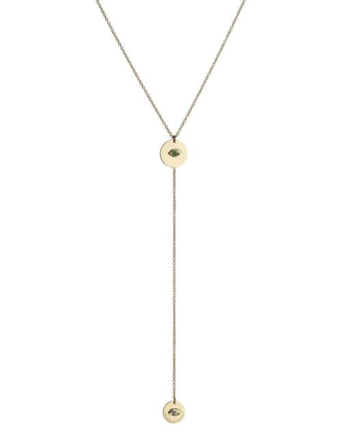 Delfina Delettrez | 18kt Yellow Gold Necklace With Emerald And Sapphire | Lyst
