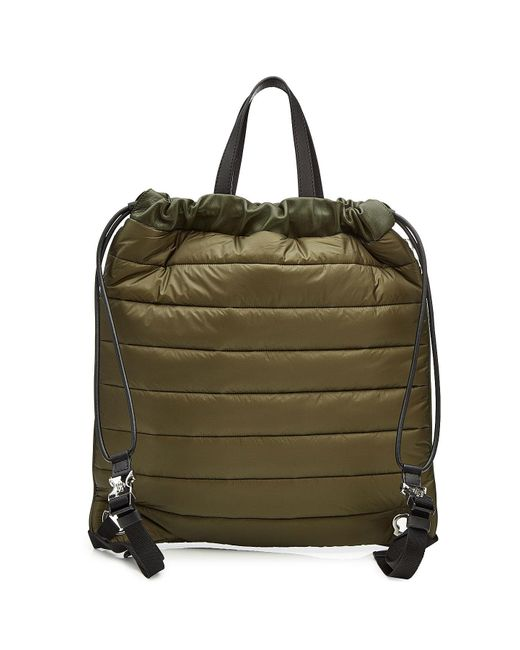 Lyst - Sac à dos avec cuir New Kinly Moncler en coloris Vert b5565eed2bf