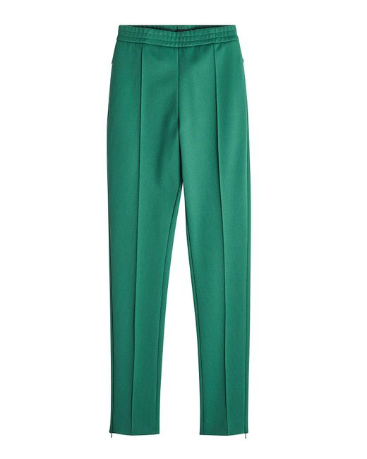 Joseph - Green Dallas Pants With Zipped Ankles - Lyst