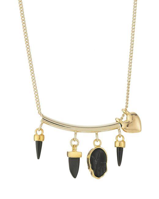Étoile Isabel Marant - Metallic Necklace With Bone - Lyst