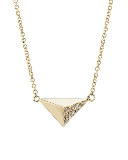 Ileana Makri - 18kt Yellow Gold Necklace With White Diamonds - Lyst