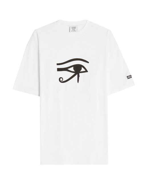 Vetements - White Eye Printed Cotton T-shirt - Lyst