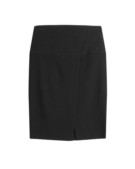 Paule Ka - Black Skirt With Slit - Lyst