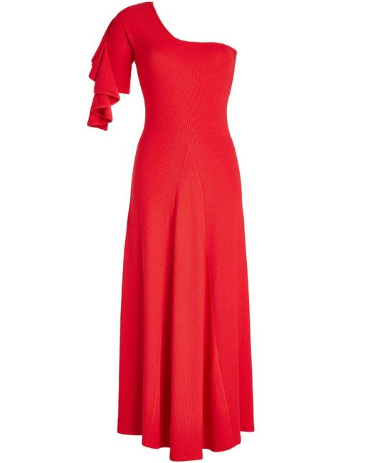 Beaufille - Red Dione One-shoulder Dress - Lyst