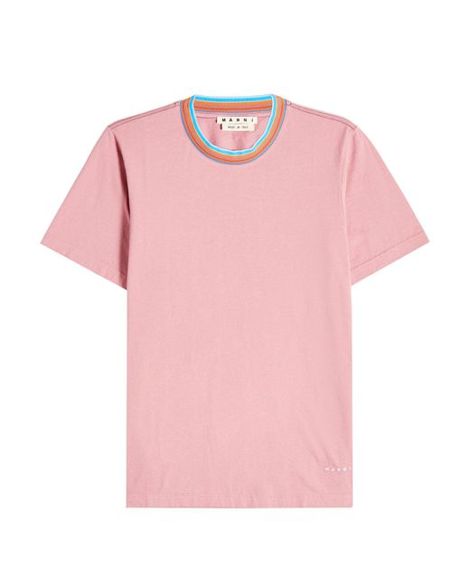 Marni - Pink Cotton T-shirt for Men - Lyst