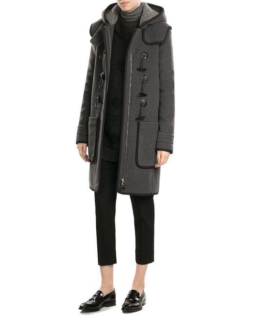 Carven | Black Wool Duffle Coat | Lyst