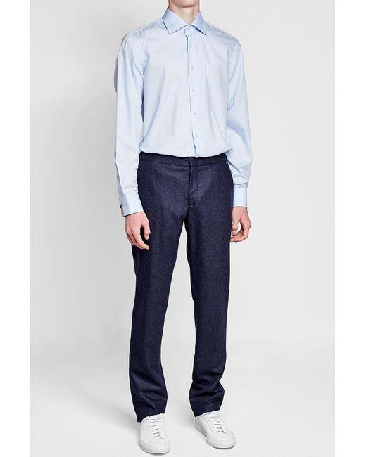Baldessarini   Blue Cotton Shirt for Men   Lyst
