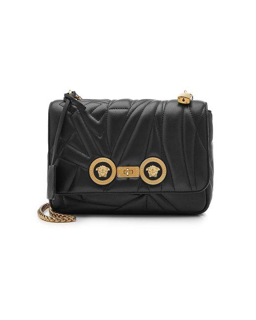 Versace - Black Sac porté épaule en cuir - Lyst