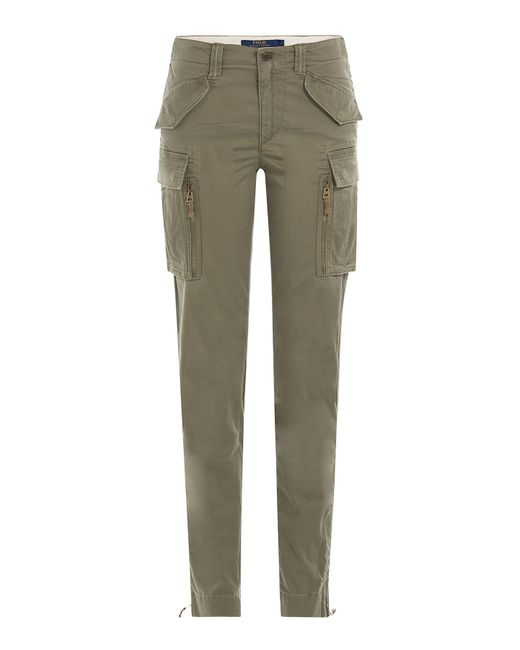 Simple Ralph Lauren Waffleknit Cargo Pant In Green Defender Green  Lyst
