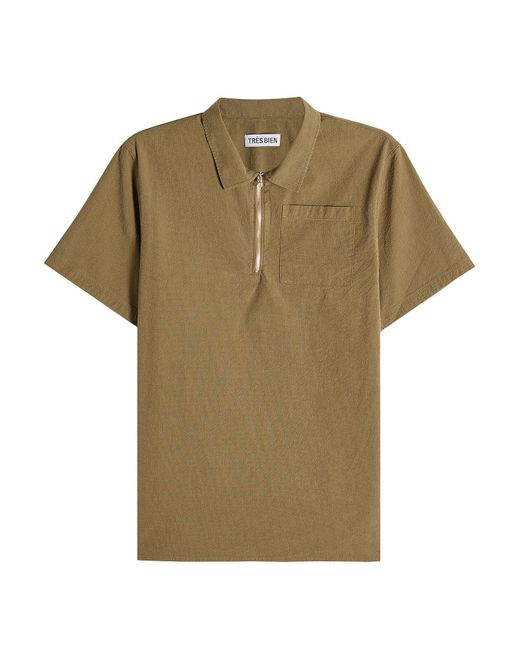 Tres Bien - Multicolor Cotton Top With Zipped Front for Men - Lyst