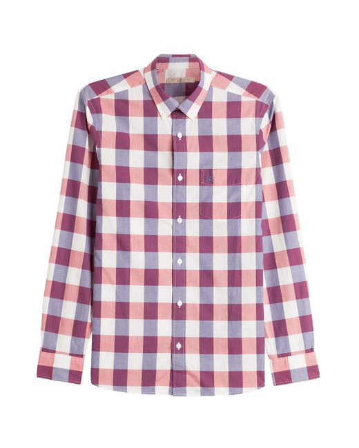 Burberry Brit Cotton Check Shirt In Pink For Men Lyst