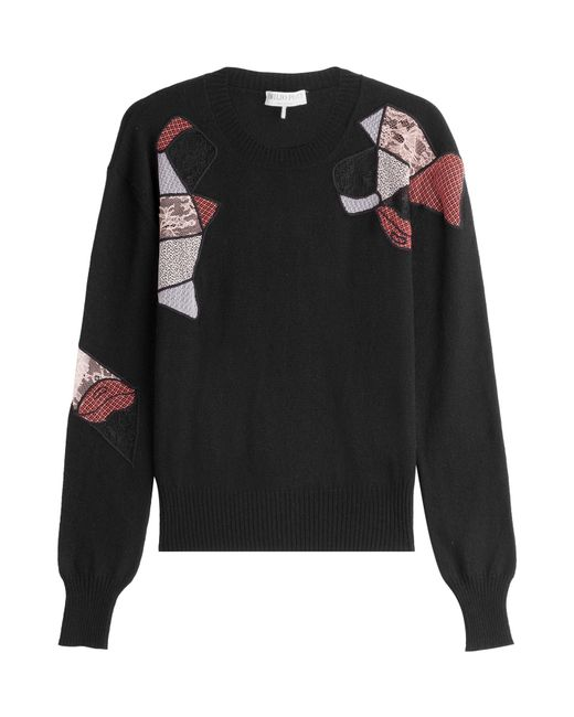 Emilio Pucci   Black Wool Pullover With Silk And Cashmere   Lyst