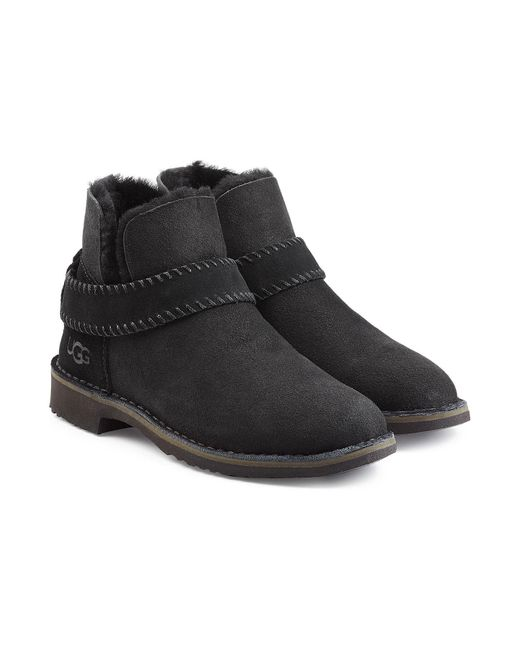 Ugg - Black Fold Cuff Ankle Boots - Lyst