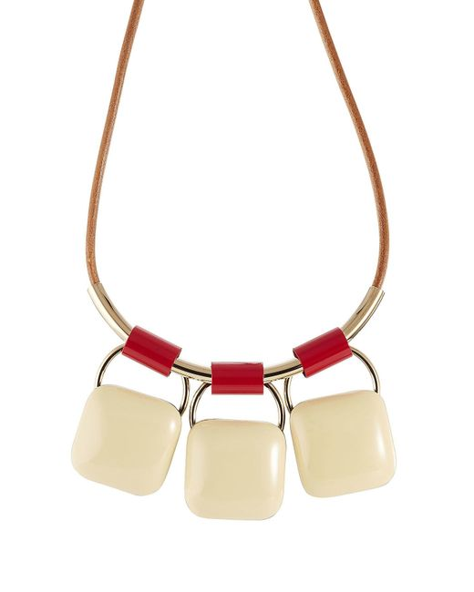 Marni - Red Triple Pendant Necklace - Lyst