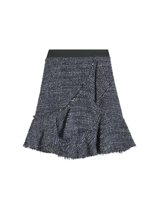 Karl Lagerfeld - Multicolor Sparkle Boucle Skirt With Wool - Lyst
