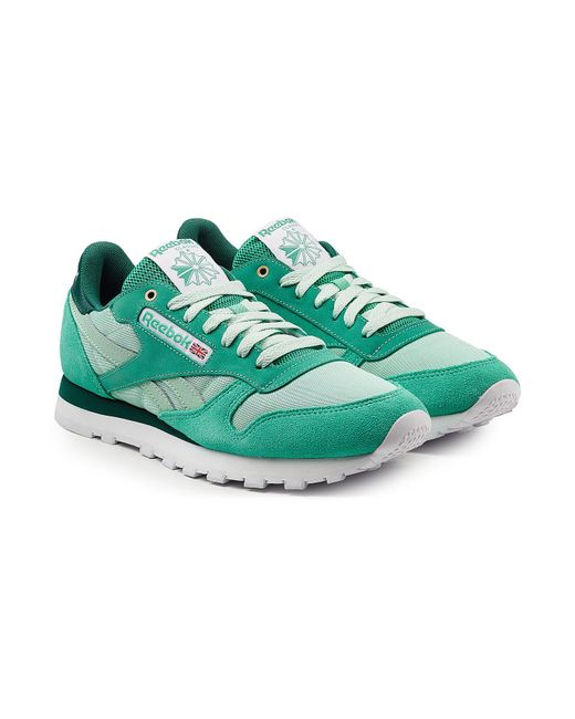 Reebok - Green Classic Sneakers With Leather, Mesh And Suede for Men - Lyst