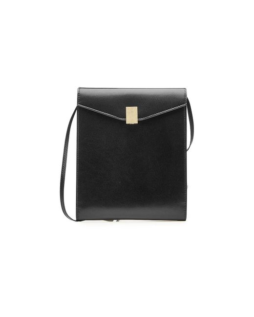 Victoria Beckham - Black Postino Leather Shoulder Bag - Lyst