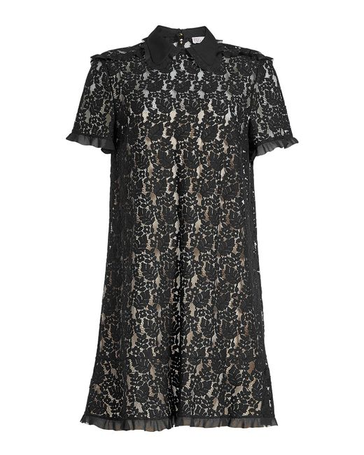 RED Valentino - Black Lace Dress - Lyst