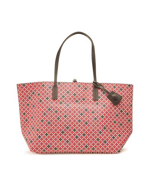 f1e02cd58cf6 By Malene Birger - Red Abigail Printed Leather Shopper - Lyst ...