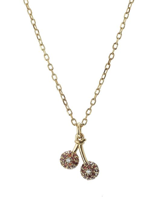 Marc Jacobs | Metallic Embellished Sterling Silver Cherry Chain Necklace | Lyst