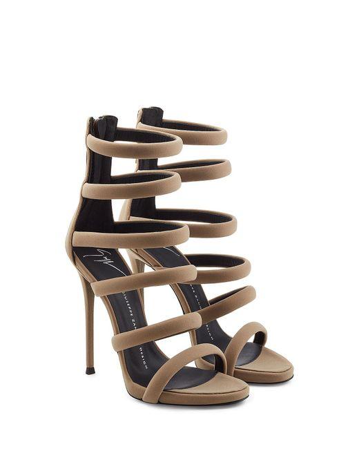 Giuseppe Zanotti - Gray Strappy High Heels - Lyst