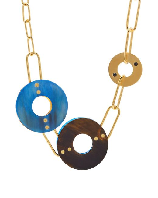 Marni - Blue Necklace With Horn - Lyst