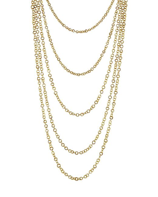 Pippa Small - Metallic Gold Plated Silver Necklace With Lapis - Lyst