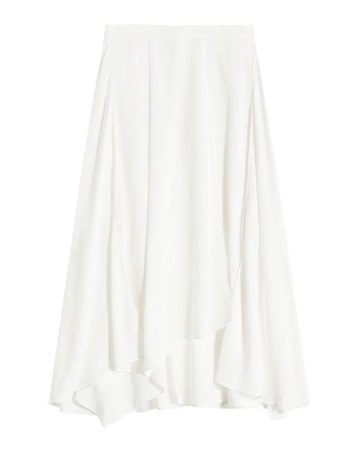 Jil Sander Navy - White Midi Skirt - Lyst