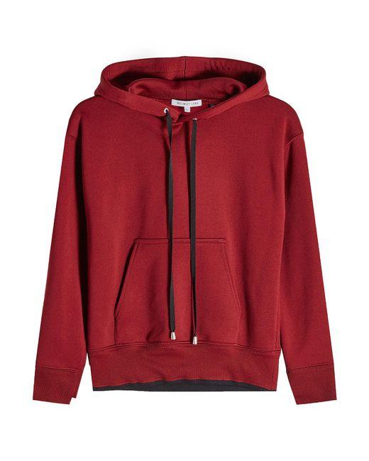 Helmut Lang - Red Hooded Sweatshirt - Lyst