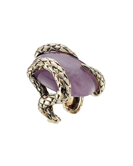 Roberto Cavalli - Multicolor Statement Ring With Semi-precious Stone - Lyst