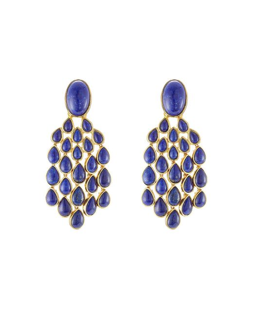 Aurelie Bidermann - Metallic 18kt Gold Plated Lapis Lazuli Earrings - Lyst
