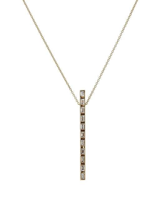 Ileana Makri - Metallic 18k Yellow Gold Prince Baguette Pendant With Diamonds - Lyst