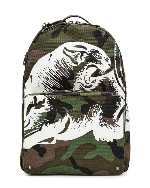 Valentino | Multicolor Rockstud Printed Camouflage Backpack for Men | Lyst