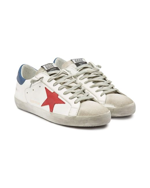 e74dfa4fe550 Golden Goose Deluxe Brand - Multicolor Super Star Leather Sneakers With  Suede for Men - Lyst ...