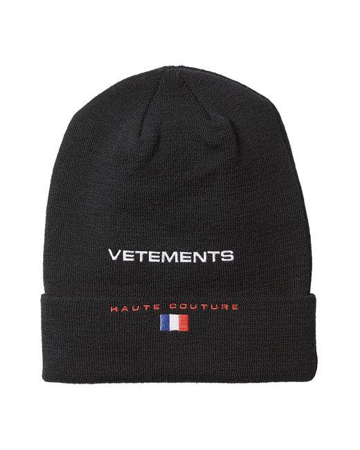 cfa274efd150d0 ... Vetements Hat: Vetements X Reebok Wool Hat In Black For Men