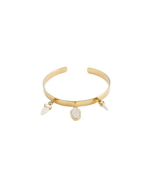 Étoile Isabel Marant - Metallic Bangle Bracelet With Bone - Lyst